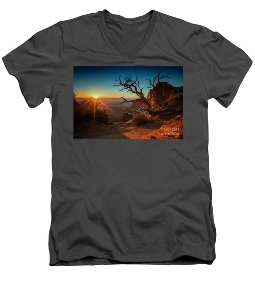 A New Day Dawns Men's V-Neck T-Shirt by Kristal Kraft