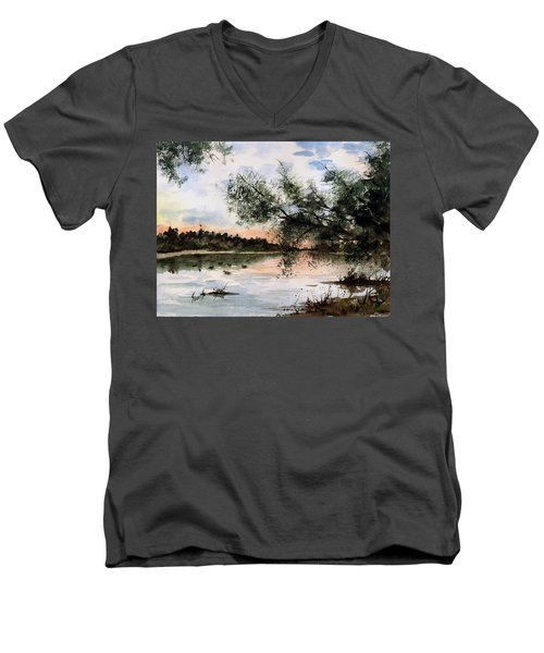 A New Day Men's V-Neck T-Shirt by Sam Sidders