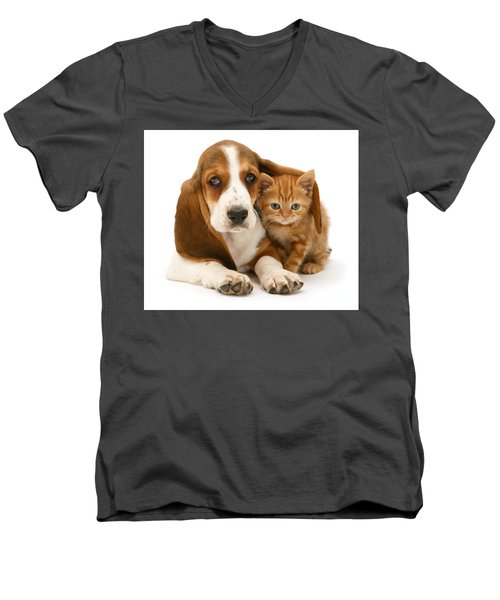 A New Meaning To Cat Flap Men's V-Neck T-Shirt