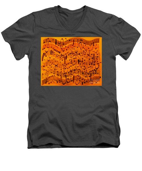 A New Song Men's V-Neck T-Shirt by Nancy Kane Chapman