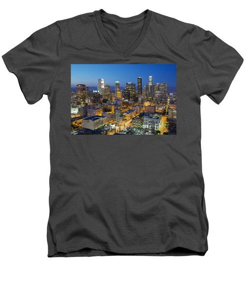 A Night In L A Men's V-Neck T-Shirt