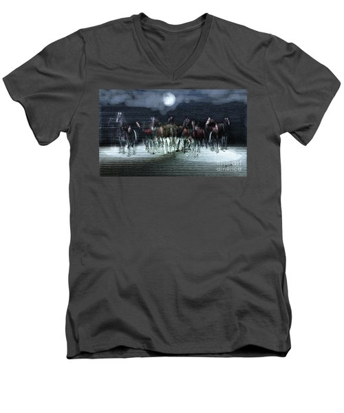 A Night Of Wild Horses Men's V-Neck T-Shirt