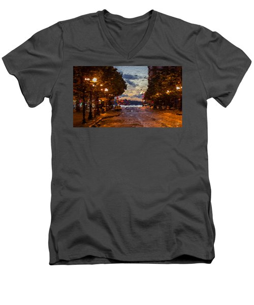 A Night Out On The Town Men's V-Neck T-Shirt by Anthony Fishburne