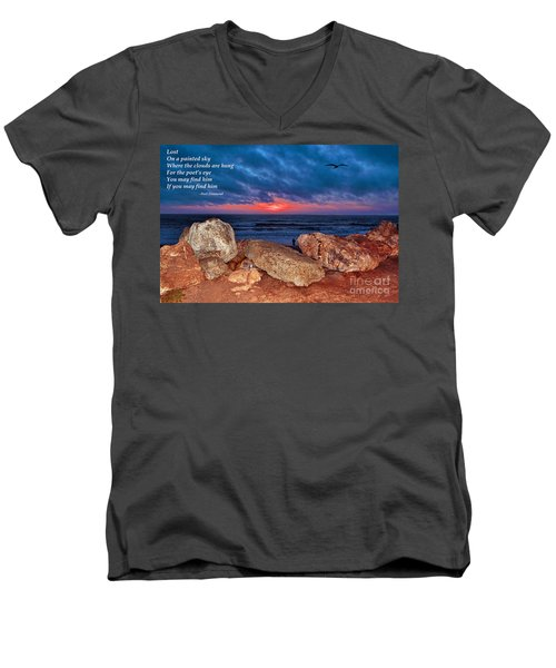 A Painted Sky For The Poet's Eye Men's V-Neck T-Shirt by Jim Fitzpatrick