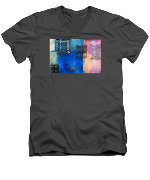 A Painted Wall Men's V-Neck T-Shirt by Catherine Lau
