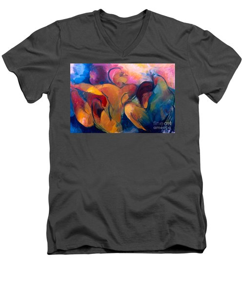 A Passion To Be Raised Men's V-Neck T-Shirt by Daun Soden-Greene