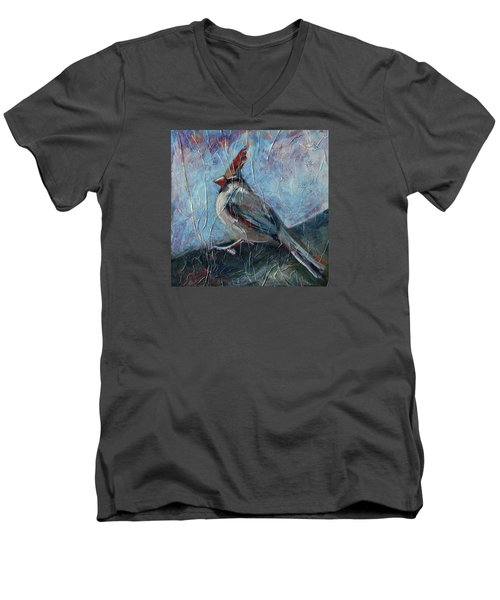 A Pause In The Feast Men's V-Neck T-Shirt by Pattie Wall