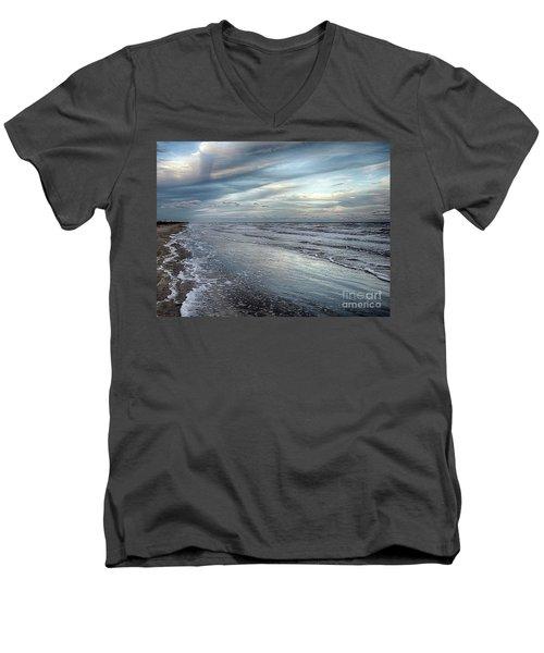 A Peaceful Beach Men's V-Neck T-Shirt