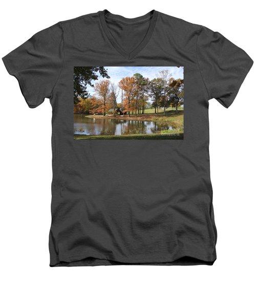 A Peaceful Spot Men's V-Neck T-Shirt