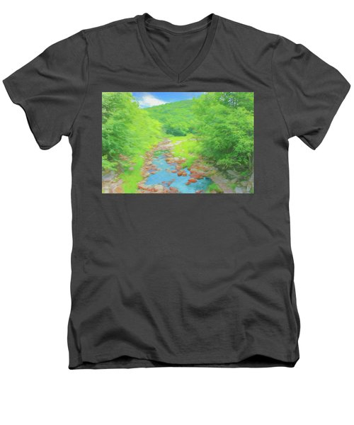 A Peaceful Summer Day In Southern Vermont. Men's V-Neck T-Shirt