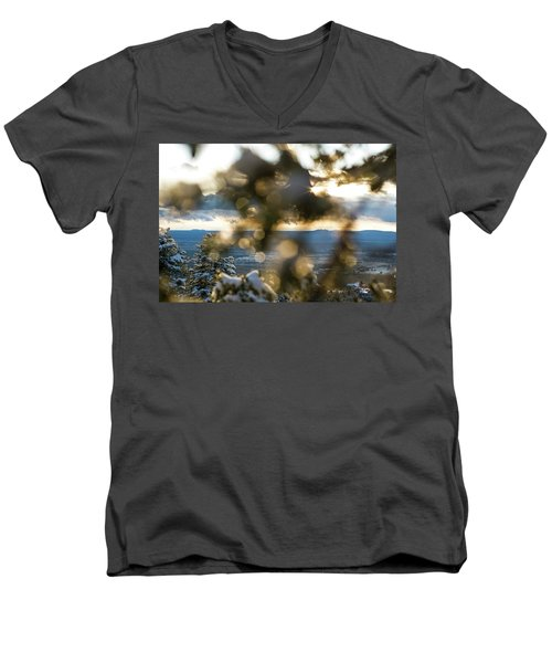 A Peek At Taos Mesa Men's V-Neck T-Shirt