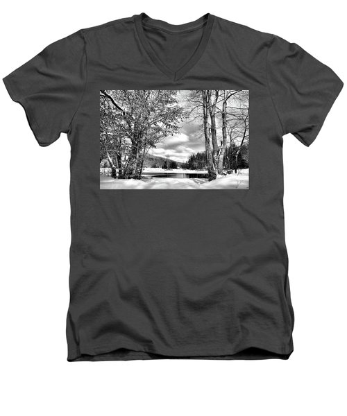 A Peek At Winter Men's V-Neck T-Shirt