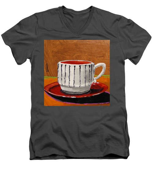 A Perfect Cup Men's V-Neck T-Shirt by John Williams