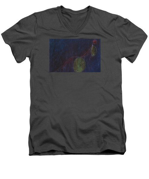 A Person Who  Inquires Into  The Soul Of Things Men's V-Neck T-Shirt by Min Zou