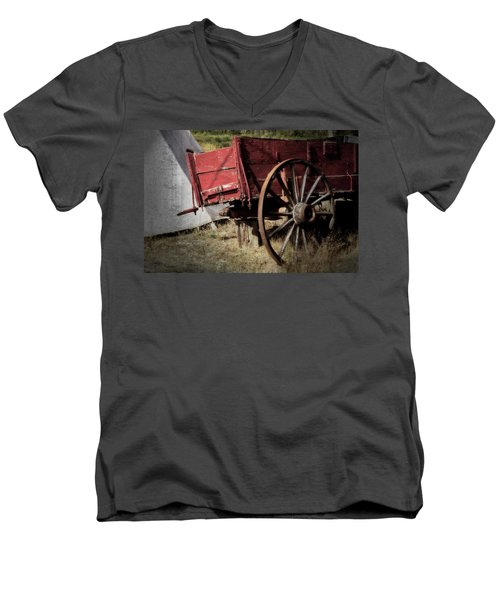 A Piece Of Our History - 365-69 Men's V-Neck T-Shirt by Inge Riis McDonald