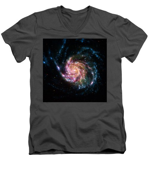 A Pinwheel In Many Colors Men's V-Neck T-Shirt