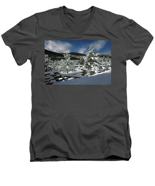 A Place In The Winter Sun Men's V-Neck T-Shirt