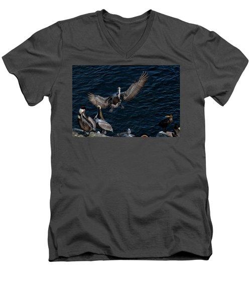 A Place To Land Men's V-Neck T-Shirt by James David Phenicie