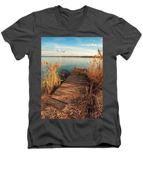 A Place Where Lovers Meet Men's V-Neck T-Shirt
