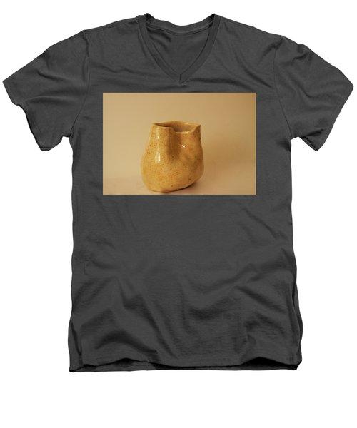 A Pot On A Leaf Men's V-Neck T-Shirt by Itzhak Richter