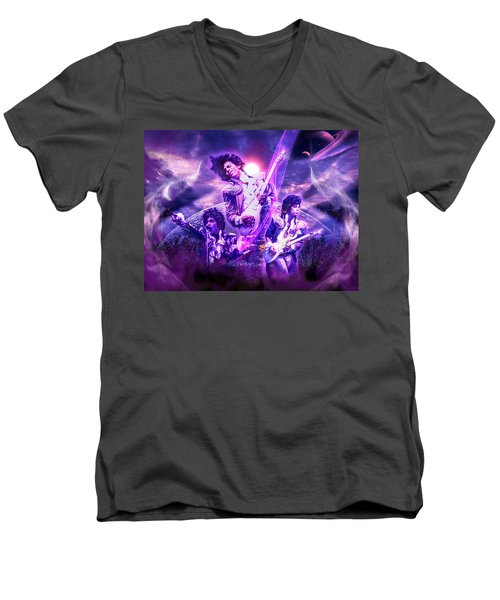 A Prince For The Heavens  Men's V-Neck T-Shirt by Glenn C Feron