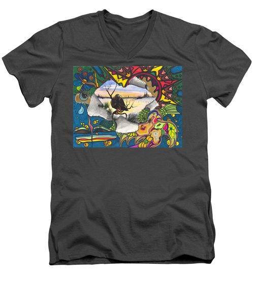 A Punch Through Men's V-Neck T-Shirt