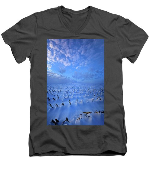 Men's V-Neck T-Shirt featuring the photograph A Quiet Light Purely Seen by Phil Koch