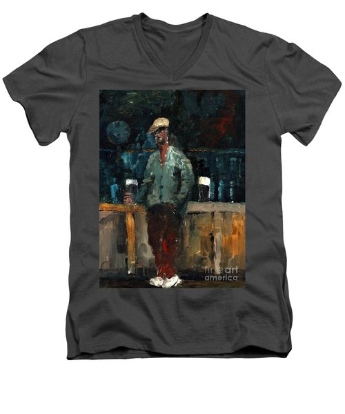 F 772  Holy Hour A Pint And A Spare. Men's V-Neck T-Shirt
