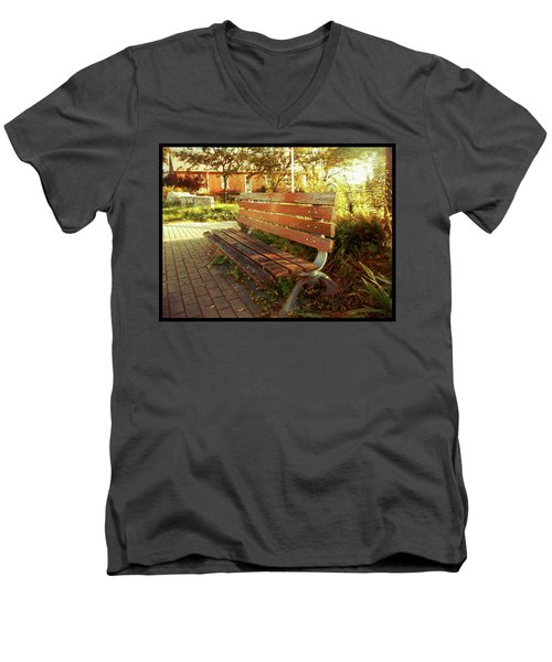Men's V-Neck T-Shirt featuring the photograph A Restful Respite by Shawn Dall