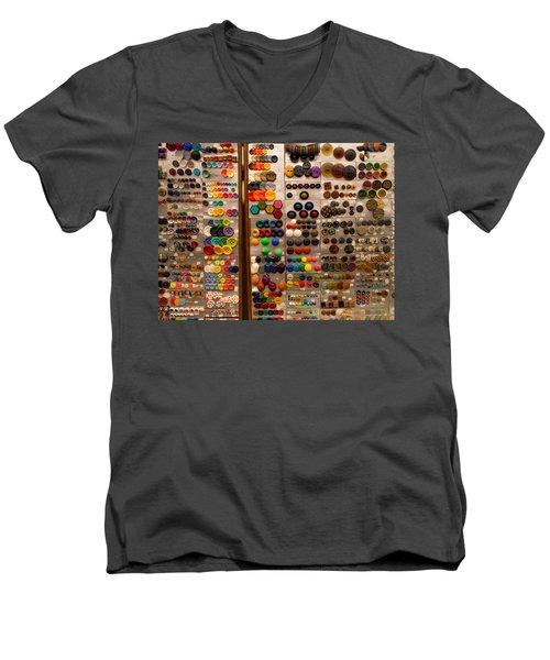 A Riot Of Buttons Men's V-Neck T-Shirt