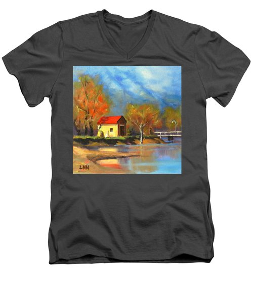A River Bank Men's V-Neck T-Shirt