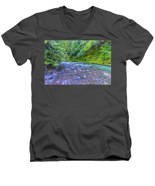 Men's V-Neck T-Shirt featuring the photograph A River by Jonny D
