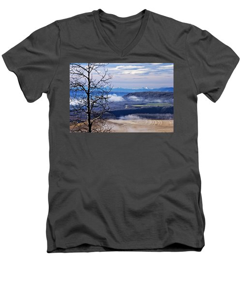 A Road Half Way There Men's V-Neck T-Shirt by Sandra Foster