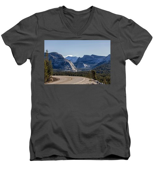 Men's V-Neck T-Shirt featuring the photograph A Road To Follow by Everet Regal