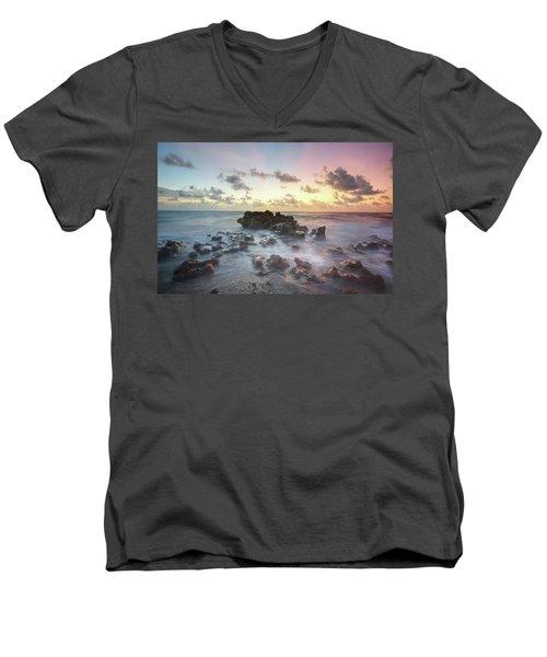 A Rocky Sunrise. Men's V-Neck T-Shirt