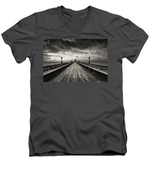 A Romantic Walk To The Past Men's V-Neck T-Shirt by Dominique Dubied