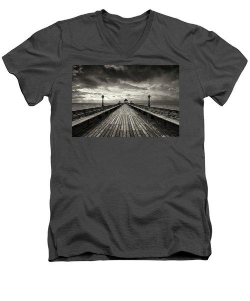 A Romantic Walk To The Past Men's V-Neck T-Shirt