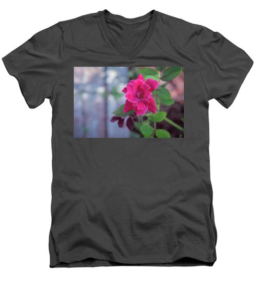 A Rose And A Hard Place Men's V-Neck T-Shirt by Stefanie Silva