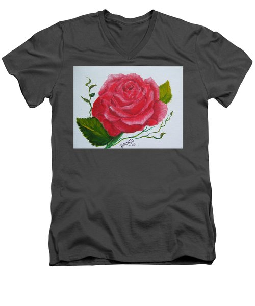 A Rose For You Men's V-Neck T-Shirt