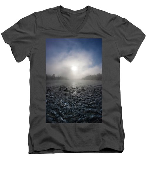 A Rushing River Men's V-Neck T-Shirt