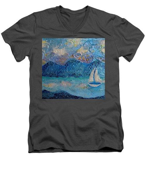 A Sailboat For The Mind #2 Men's V-Neck T-Shirt