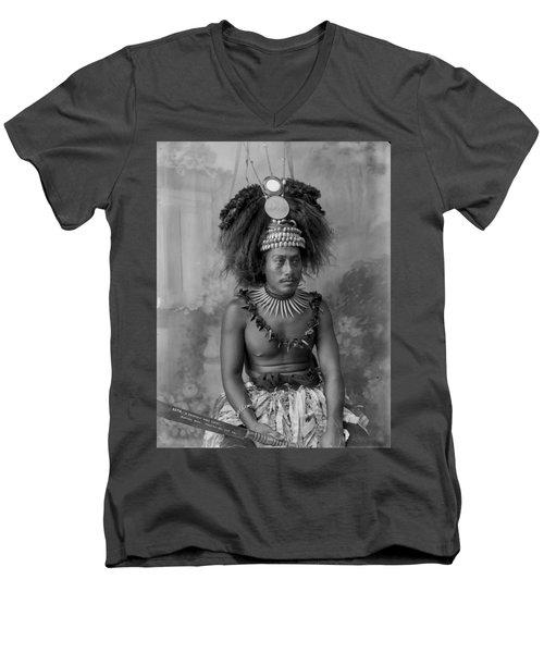 A Samoan High Chief Men's V-Neck T-Shirt