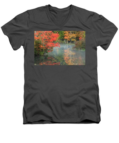 A Seat To Watch Autumn Men's V-Neck T-Shirt