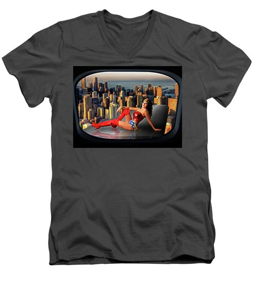 A Seat With A View Men's V-Neck T-Shirt
