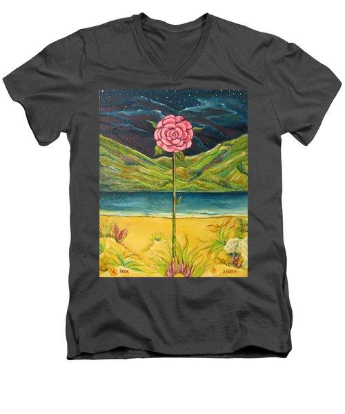 A Secret Romance Men's V-Neck T-Shirt by John Keaton