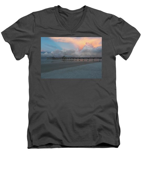 Men's V-Neck T-Shirt featuring the photograph A Serene Morning by Kim Hojnacki