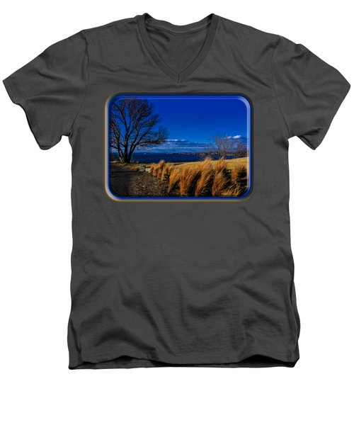 A Side Path Men's V-Neck T-Shirt by Mark Myhaver