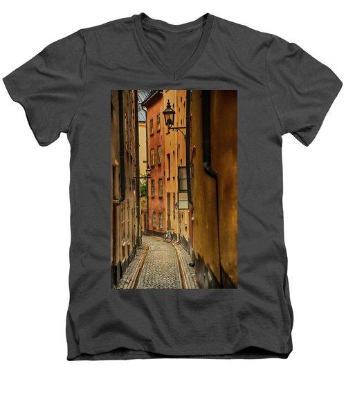 A Side Street In Stockholm Men's V-Neck T-Shirt
