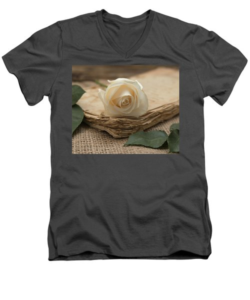 Men's V-Neck T-Shirt featuring the photograph A Simple Time by Kim Hojnacki