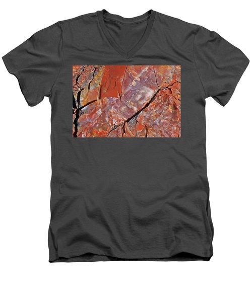 A Slice Of Time Men's V-Neck T-Shirt by Gary Kaylor